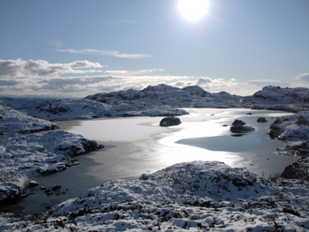 Lochan at Achmelvich in Winter