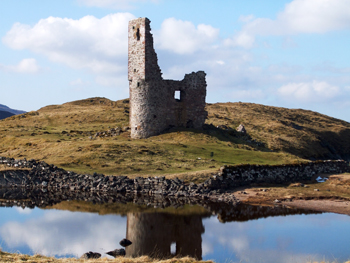 Ardvreck Castle ruin at Inchnadamph