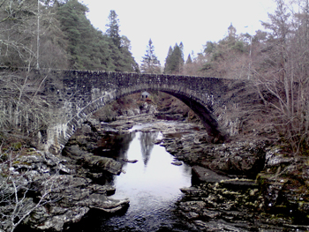 View of Invermoriston Falls and Summerhouse